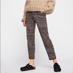 NWOT Free People Marled Knit Trousers Sz L